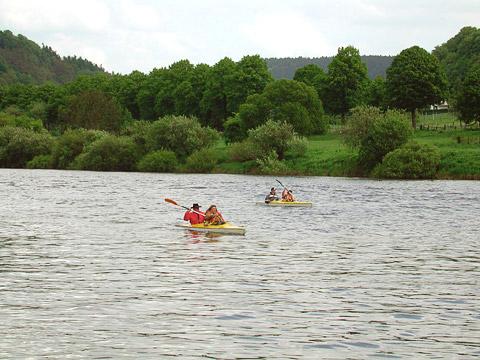 Kanuwandern auf der Weser